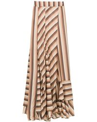 Amir Slama Striped long skirt - Multicolore
