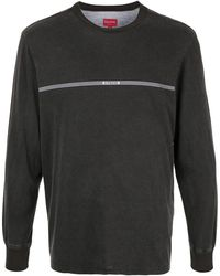 Supreme Printed Stripe Long-sleeved T-shirt - Grey