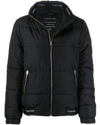 Calvin Klein ジップ パデッドジャケット - ブラック