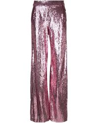 Prabal Gurung Sequin wide leg trousers - Rose