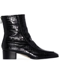 Aeyde Amelia 40mm Ankle Boots - Black