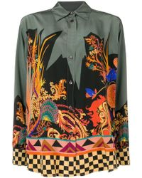 Etro - Embroidered Long-sleeve Top - Lyst