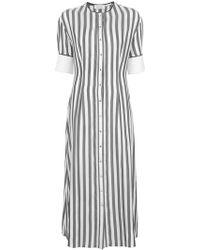 Yigal Azrouël - Striped Shirt Dress - Lyst