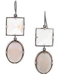 Bottega Veneta - Double Stone Earrings - Lyst