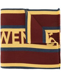 Kent & Curwen Logo Intarsia Knit Scarf - Multicolour