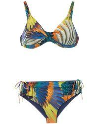 Lygia & Nanny Cleopatra Print Marcela Bikini Set - Blue