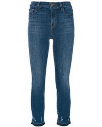 J Brand Jean crop Maude - Bleu