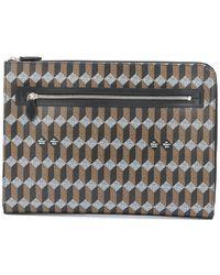 AU DEPART Laptoptasche mit Print - Schwarz