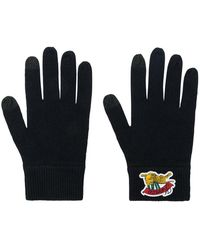 KENZO - Logo Embroidered Gloves - Lyst