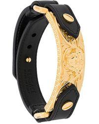 Versace Medusa Embellished Bracelet - Black