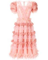 Dolce & Gabbana Jurk Met Ruche - Roze