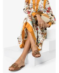 Dolce & Gabbana Amore ロゴ サンダル - ブラウン