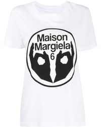MM6 by Maison Martin Margiela Logo Print T-shirt - Multicolour