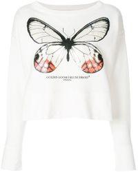 Golden Goose Deluxe Brand - Pearlescent Butterfly Sweatshirt - Lyst