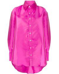 Matthew Adams Dolan Oversized Satin-twill Shirt - Pink