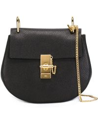 Chloé Small Drew Shoulder Bag - Zwart