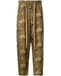 Uma Wang Pyjamahose mit Print - Gelb