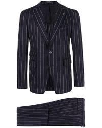 Tagliatore - Chalk Stripe Suit - Lyst