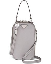 Prada Saffiano Mini-bag - Metallic