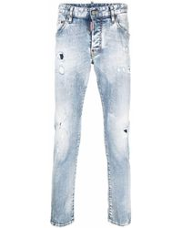DSquared² Ripped Skinny Jeans - Blue