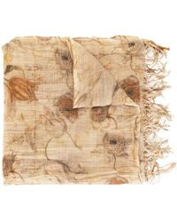 Uma Wang Floral-print Scarf - Brown