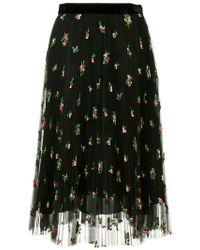 Philosophy Di Lorenzo Serafini - Floral Pleated Skirt - Lyst
