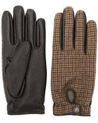 Lardini - Tweed Embroidered Gloves - Lyst