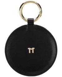 Tila March Round Handbag Mirror - Black