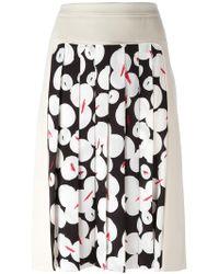 Jil Sander Navy | Pleated Panel Skirt | Lyst