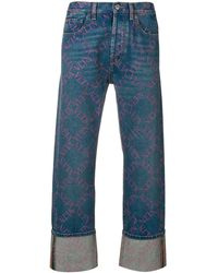 5a0d4cbcf4e7 Vltn Grid baggy Jeans - Blue