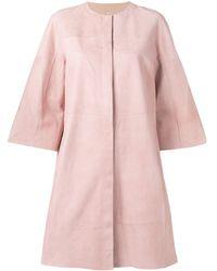 DROMe Пальто Из Замши - Розовый