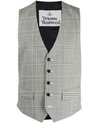 Vivienne Westwood チェック シングルコート - グレー