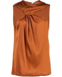 Yigal Azrouël Blouse à détail noué - Orange