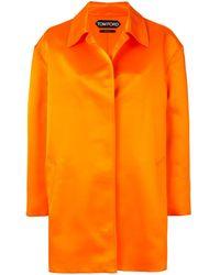 Tom Ford Silk Mid-length Coat - Orange