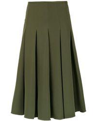 Olympiah Midi Salci Skirt - Green