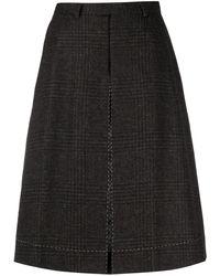 Maison Margiela Four-stitch Houndstooth Shorts - Brown