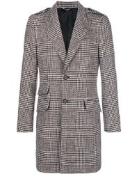 Dolce & Gabbana - Houndstooth Single Breasted Coat - Lyst
