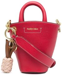 See By Chloé Cecilia Mini Bucket Bag - Red