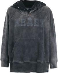 À La Garçonne Heart Sweatshirt À La Garçonne + Hering - Gray