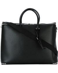 Valextra Oversized Briefcase - Black