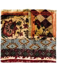 Pierre Louis Mascia - Floral Embroidered Scarf - Lyst
