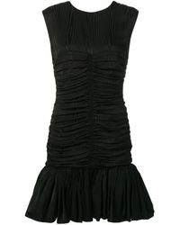 MSGM Платье С Эффектом Драпировки - Черный