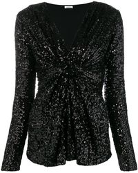 P.A.R.O.S.H. - Sequin Party Blouse - Lyst