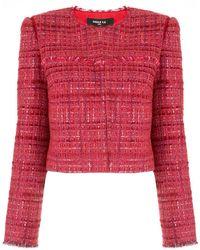 Paule Ka Blazer en tweed - Rouge