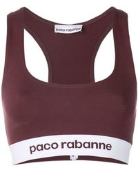 Paco Rabanne - Racer Back Logo Cropped Top - Lyst
