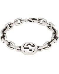Gucci Sterlingsilber-Armband mit GG - Mettallic