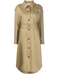 Alexander Wang Button Down Belted Trench Coat - Natural