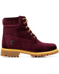 Off-White c/o Virgil Abloh X Timberland Logo Boots - Red