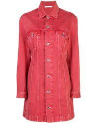 Helmut Lang Button-up shirt dress - Rosso