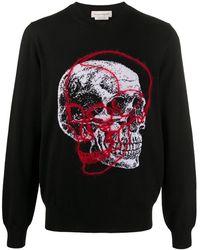 Alexander McQueen Джемпер С Вышивкой Skull - Черный